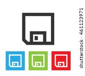 diskette icon. diskette picture ... | Shutterstock . vector #461123971