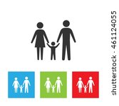 family icon. simple logo of... | Shutterstock . vector #461124055