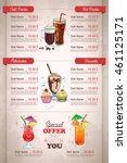 restaurant vertical color... | Shutterstock .eps vector #461125171