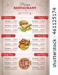 restaurant vertical color menu | Shutterstock .eps vector #461125174