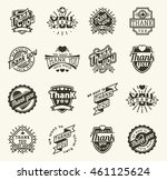 vintage label thank you text... | Shutterstock .eps vector #461125624