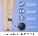 infographics phlebology ... | Shutterstock .eps vector #461131711