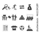 football or soccer transfer... | Shutterstock .eps vector #461134189