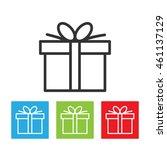 gift icon. gift box logo...