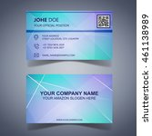 modern business card template... | Shutterstock .eps vector #461138989