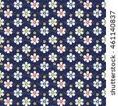 vintage floral seamless pattern.... | Shutterstock .eps vector #461140837