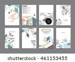 annual report brochure template ... | Shutterstock .eps vector #461153455