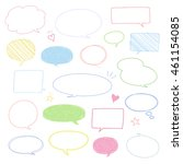 set of colorful speech bubbles  ... | Shutterstock .eps vector #461154085