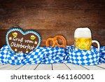 oktoberfest background with...   Shutterstock . vector #461160001