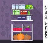 supermarket interior design.  | Shutterstock .eps vector #461160421