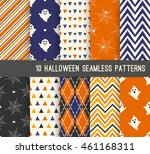 ten halloween different... | Shutterstock .eps vector #461168311