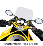 sport motorcycle first person... | Shutterstock .eps vector #461171581