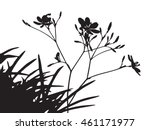 Set Of Flower Trees Vector...
