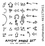 vector hand drawn arrows set | Shutterstock .eps vector #461173411