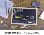wants and needs balance.... | Shutterstock . vector #461173597
