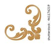 vintage baroque ornament. retro ... | Shutterstock .eps vector #461176219