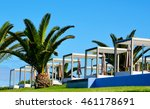 view of some beds sunloungers... | Shutterstock . vector #461178691