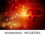 2d illustration abstract... | Shutterstock . vector #461182561