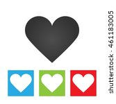heart icon. simple logo of...