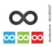 infinity icon. simple logo of...