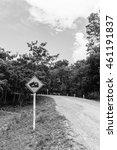 traffic signs danger road slope ... | Shutterstock . vector #461191837