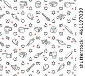 seamless pattern with... | Shutterstock .eps vector #461197039