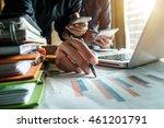 business team meeting present... | Shutterstock . vector #461201791