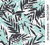tropical palm leaves pattern....   Shutterstock .eps vector #461207689