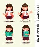 student elementary school set.... | Shutterstock .eps vector #461209714