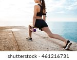 young beautiful sportive girl... | Shutterstock . vector #461216731