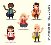 set of characters elementary... | Shutterstock .eps vector #461224399