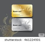 template design member card.... | Shutterstock .eps vector #461224501