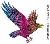 Stylized Crows. Decorative Bir...