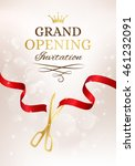 grand opening invitation card... | Shutterstock .eps vector #461232091