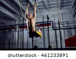muscle up exercise young man... | Shutterstock . vector #461233891