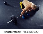 overhead picture of athlete... | Shutterstock . vector #461233927