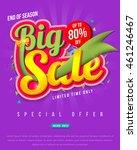 sale banner template design ... | Shutterstock .eps vector #461246467