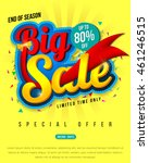 sale banner template design ... | Shutterstock .eps vector #461246515
