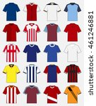 set of soccer kit or football... | Shutterstock .eps vector #461246881
