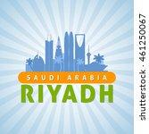 riyadh saudi arabia city... | Shutterstock .eps vector #461250067