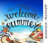 set of summer elements  blurred ... | Shutterstock .eps vector #461251699