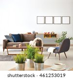 modern living room sofa and... | Shutterstock . vector #461253019