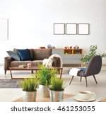 modern living room sofa and... | Shutterstock . vector #461253055