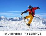 snowboarder in bright... | Shutterstock . vector #461255425