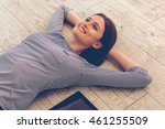 attractive young woman in...   Shutterstock . vector #461255509