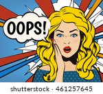 oops woman  oops face.... | Shutterstock .eps vector #461257645