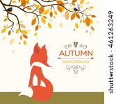 vector illustration of a fall...   Shutterstock .eps vector #461263249