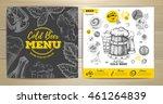 vintage cold beer menu design | Shutterstock .eps vector #461264839