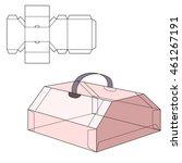 vector illustration of diecut... | Shutterstock .eps vector #461267191