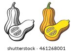 illustration of butternut... | Shutterstock .eps vector #461268001